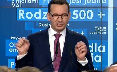 Premier Morawiecki podziękował prezesowi Jarosławowi Kaczyńskiemu