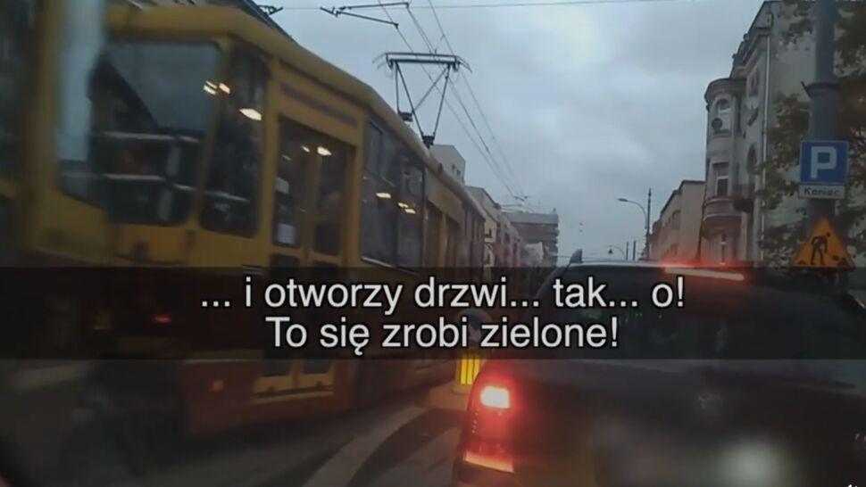 """Nie ma tramwaju? Czerwone. Jest tramwaj? Zielone! """"Gdzie jest sens, gdzie logika?!"""""""