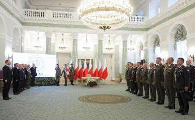 Prezydent wręczył awanse generalskie