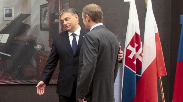 Kaczyński: Tusk to kandydat Angeli Merkel. Orban obiecał, że go nie poprze