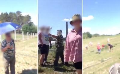 Nadzorca plantacji obrażał pracujących Ukraińców