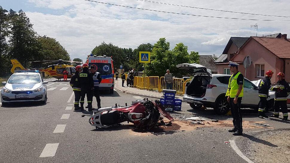 Na motocyklu zginął policjant.  Zarzut usłyszał kierowca samochodu