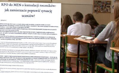 RPO pisze do ministerstwa edukacji w sprawie podwójnego rocznika