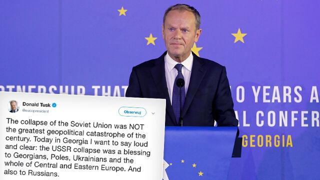 """""""Antyrosyjski przytyk"""" i """"atak rusofobii"""". Moskwa odpowiada na słowa Tuska"""