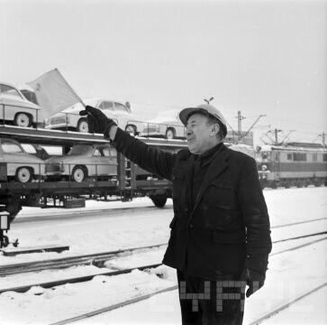 Bocznica kolejowa PKP 30.11.1973r.