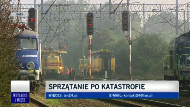 Na trasie trwają prace naprawcze (TVN24)