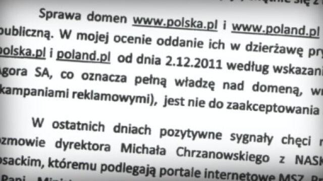 """""""Wbrew interesom państwa"""". Ostry spór o polska.pl"""