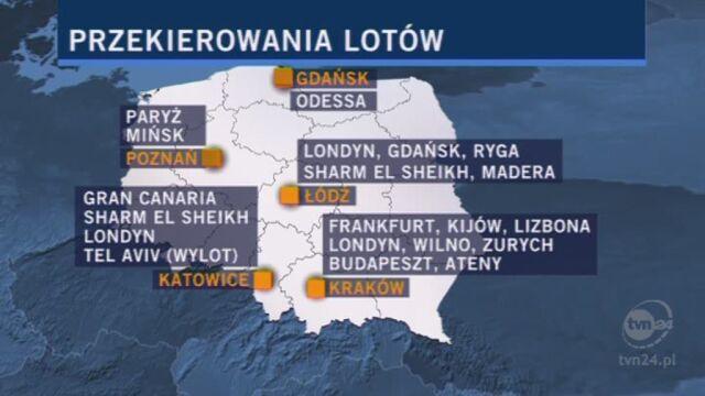 Relacja reportera Pawła Łukasika z warszawskiego lotniska