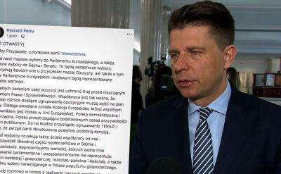 Petru chce stworzyć w Sejmie wspólny klub z Nowoczesną