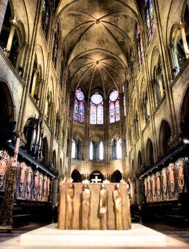 Strop katedry przed pożarem