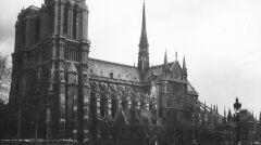 Katedra Notre-Dame z zewnątrz, 1932r.