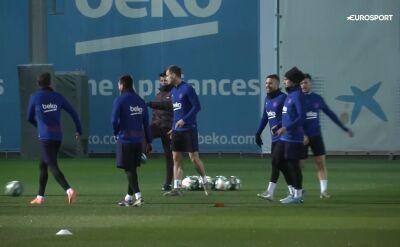 Trening Barcelony przed El Clasico