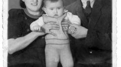 Estera i Zygmunt Binderowie z córką Sabiną