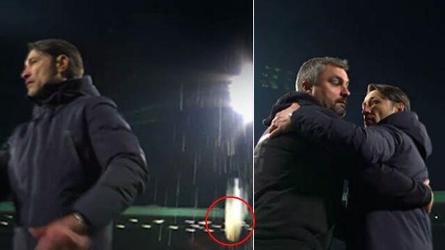 """Ktoś celował piwem w trenera Bayernu. """"Można założyć, że był to kibic z Monachium"""""""