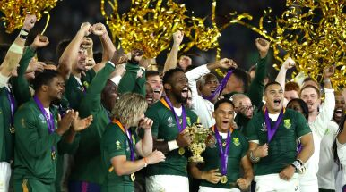 Rekord wyrównany, rugbyści RPA z Pucharem Świata.
