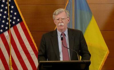 John Bolton z wizytą na Ukrainie [archiwalne]