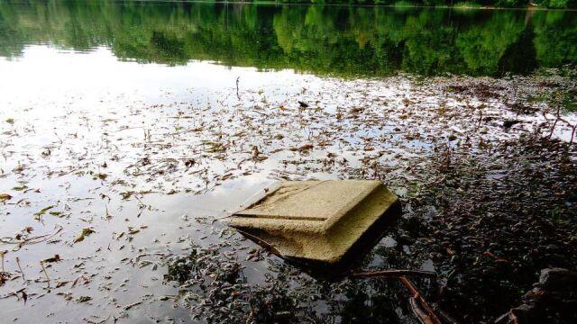 Gdy woda opada, odsłania  makabryczne