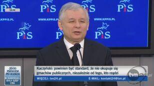 Jarosław Kaczyński żartuje z zarzutów PJN