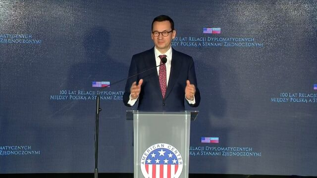Wystąpienie premiera na gali z okazji stulecia stosunków dyplomatycznych Polska-USA
