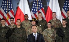 Andrzej Duda podczas  środowych uroczystości z udziałem Mika Penca