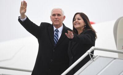 Wiceprezydent USA Mike Pence przyleciał do Polski