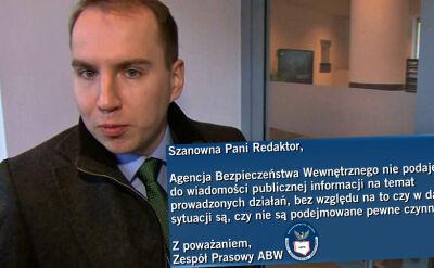 ABW nie odpowiada, czy kontrolowała Andruszkiewicza
