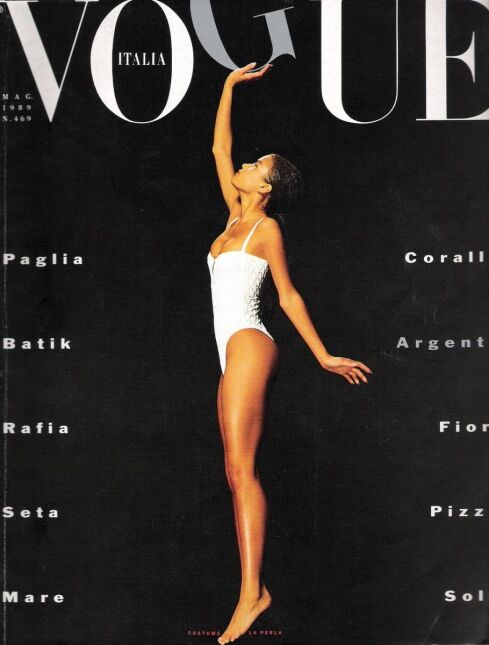 "Veronica Webb - włoski ""Vogue"", 1989"