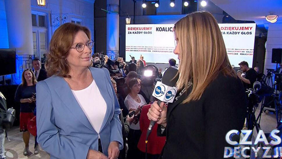 Małgorzata Kidawa-Błońska komentowała wyniki wyborów