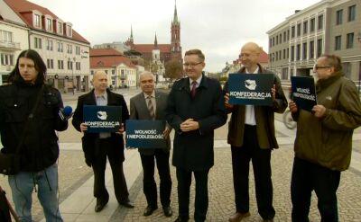 Przedstawiciele Konfederacji odwiedzili Białystok. Relacja reporterki
