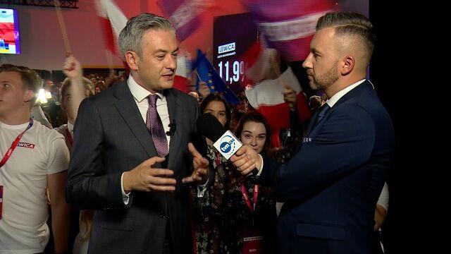 Robert Biedroń: jestem dumny, że lewica po czterech latach wraca do polskiego parlamentu