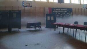 Pożar w lokalu wyborczym. Musieli przenieść komisję