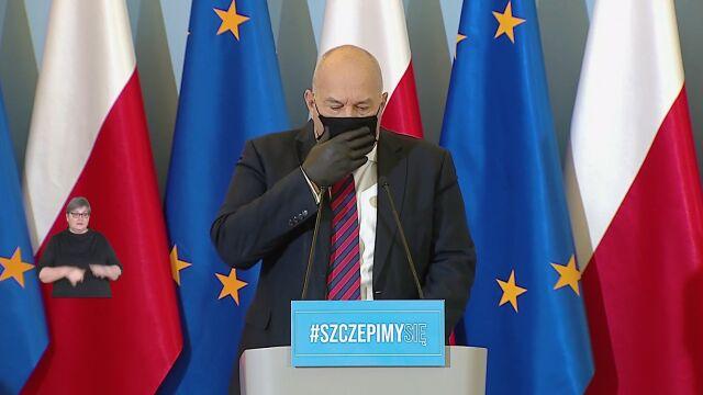 Tadeusz Kościński miał problemy z kaszlem