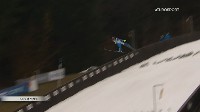 Skok Kamili Karpiel z 1. serii konkursu drużynowego w Ljubnie