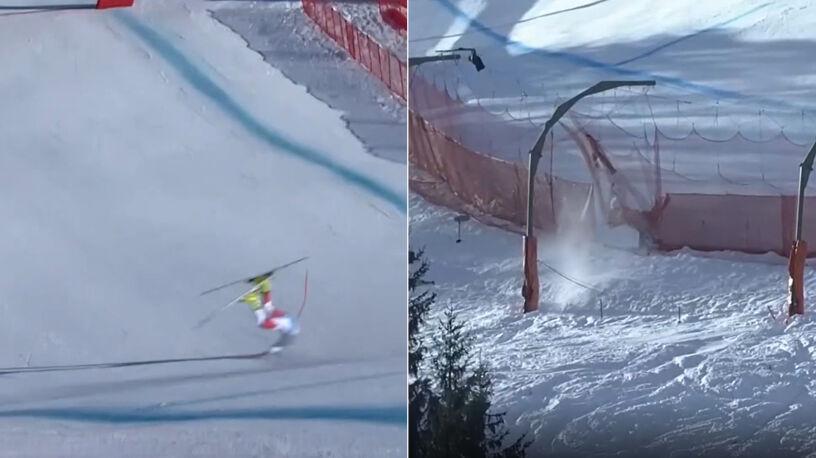 Najtrudniejsza trasa narciarska na świecie dała o sobie znać
