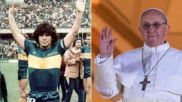 """Maradona: Tym razem """"ręka Boga"""" dała Argentynie papieża"""