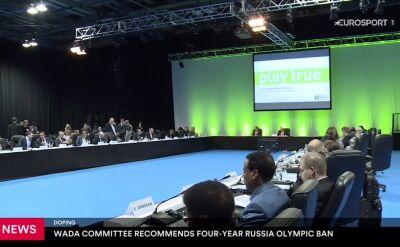 WADA rekomenduje wykluczenie Rosji ze wszystkich imprez sportowych