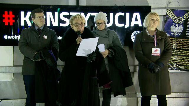 Beata Morawiec odczytała oświadczenie prezesa Europejskiego Stowarzyszenia Sędziów