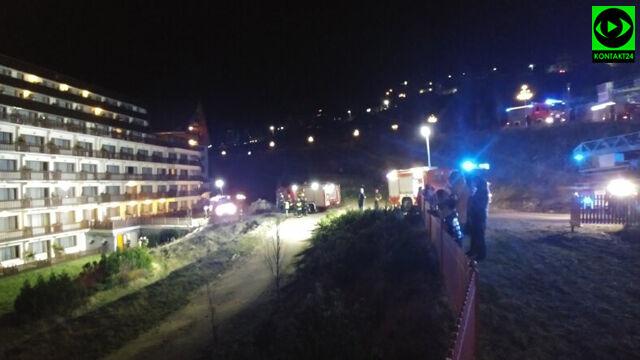 W hotelu na siódmym piętrze wybuchł pożar