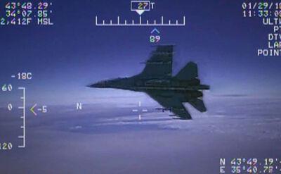 Nagranie spotkania Su-27 z amerykańskim samolotem zwiadowczym