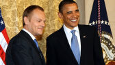 Obama i Tusk spotkali się w Pradze