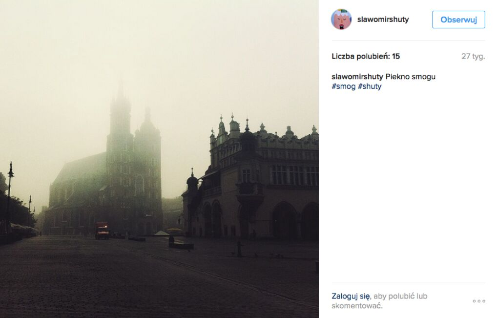 Smog utrudnia widoczność w mieście i ma istotny wpływ na zabytki.