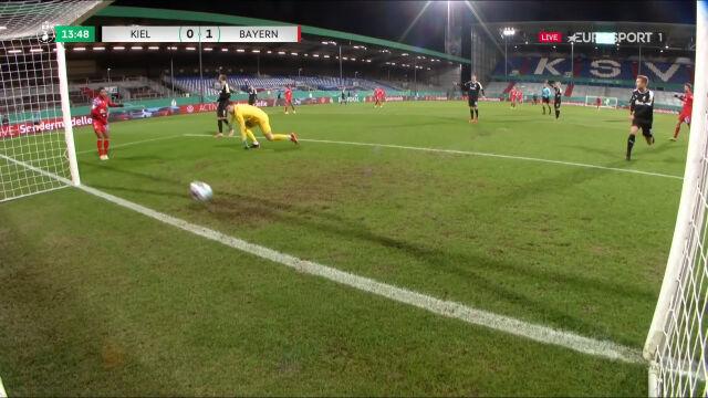 Puchar Niemiec. Holstein Kiel - Bayern 0:1. Gol Serge Gnabry