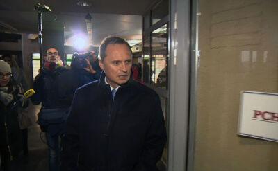 Leszek Czarnecki przyjechał do prokuratury ze swoim pełnomocnikiem Romanem Giertychem