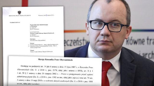Bodnar zaskarżył do sądu postanowienie o niepublikowaniu list poparcia do KRS