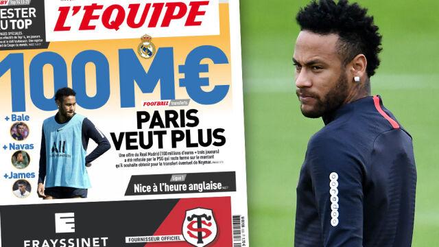 """Gigantyczna oferta Realu za Neymara. """"Paryż chce więcej"""""""
