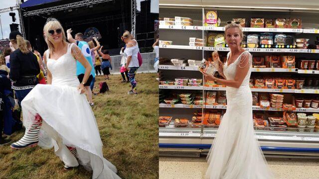 Cały rok w sukni ślubnej. W bieli chodzi nawet na koncerty czy zakupy