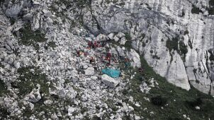 Rescuers found equipment left behind by the missing cavers