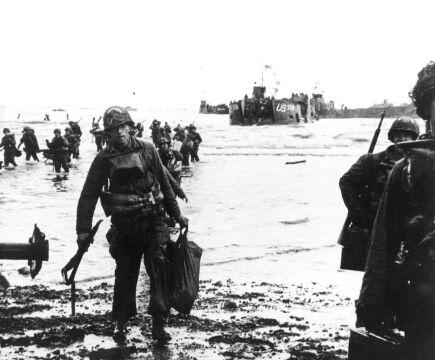 """Amerykański żołnierz na plaży """"Utah"""""""