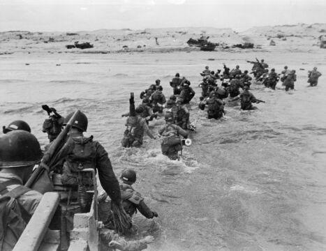 Amerykańscy żołnierze na plaży Utah