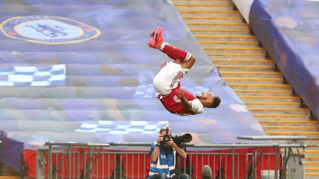 Dublet Aubameyanga w finale Pucharu Anglii. Arsenal ma co świętować